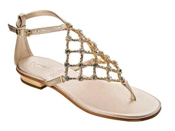 Sandalo rete gioiello Oro-0