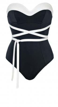 Bustier Dolce Vita con Lacci Black and White-7119