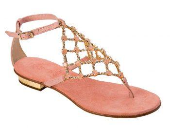 16107 Sandalo Rete Rosa Svaroski 1