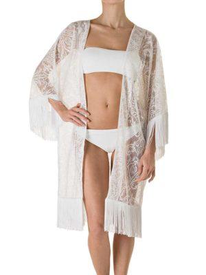 Kimono Athena Pizzo Bianco-0