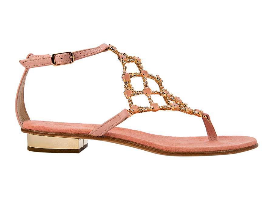 16107 Sandalo Rete Rosa Svaroski 2